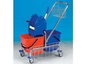 Úklidový vozík CLAROL 2x17 l,bez košíků