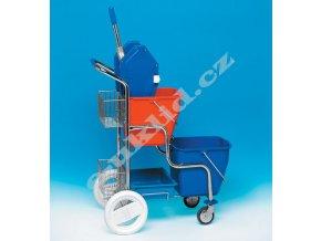 Úklidový vozík KAMZÍK, 2x17 l