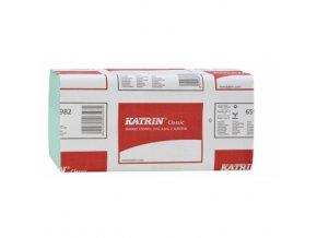 Skládané papírové ručníky Katrin 65982, 3000 ks - zelené