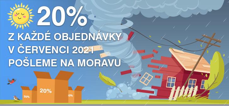 20% na Moravu