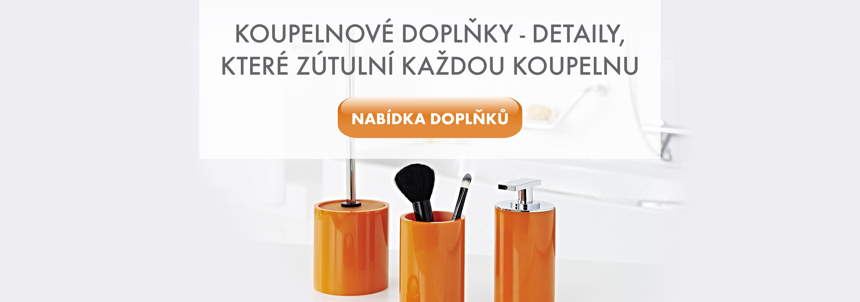 Koupelnové doplňky (háčky, držáky, mýdlenky...)