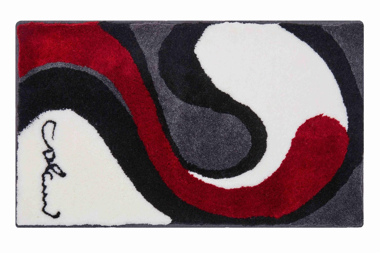 Šedo červená předložka s vysokým vlasem od Luigi Colaniho