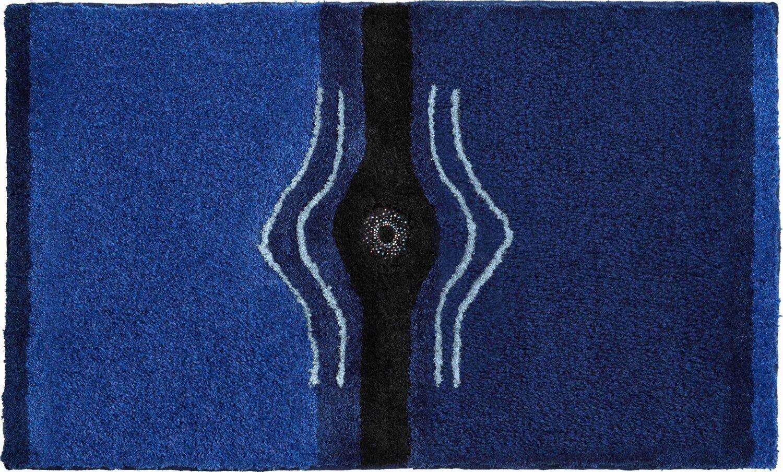 Modrá koupelnová předložka s krystaly Swarovski