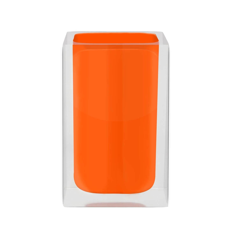CUBE - Kelímek na kartáčky oranžový z22280114