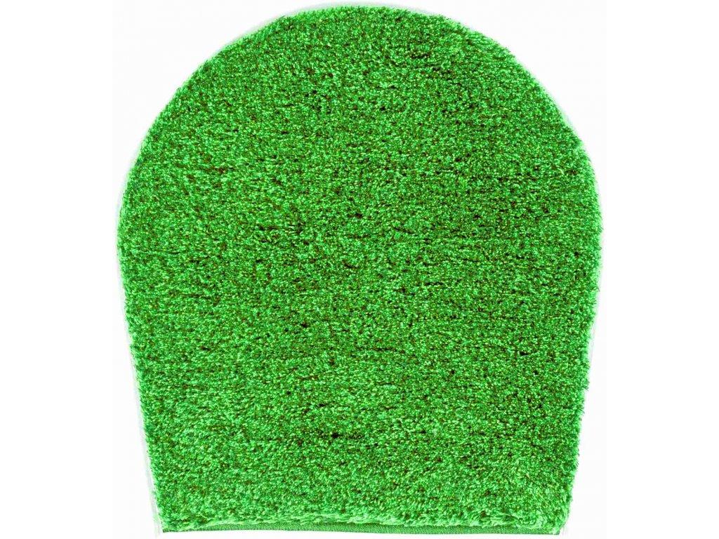 WC předložka s výřezem zelená, Polyakryl UltraSoft, LEX
