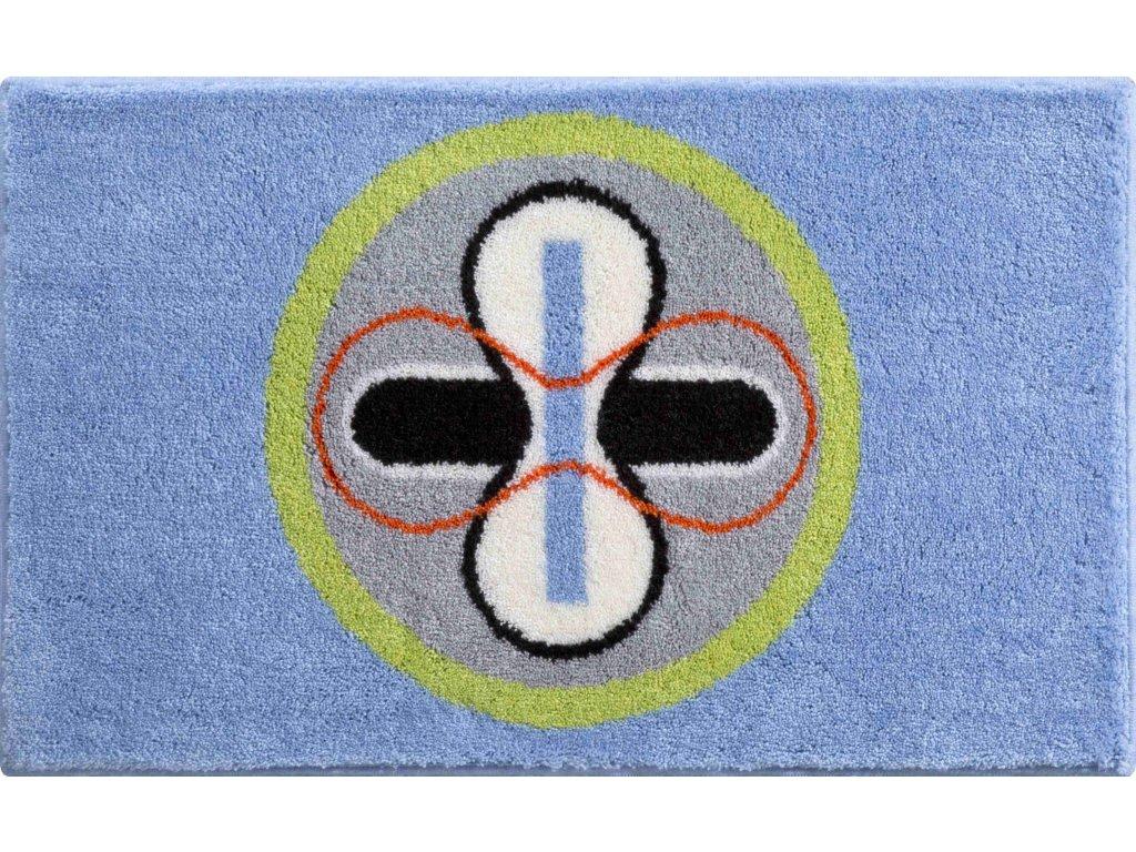 Koupelnová předložka modrá, Polyakryl SuperSoft, KARIM 01