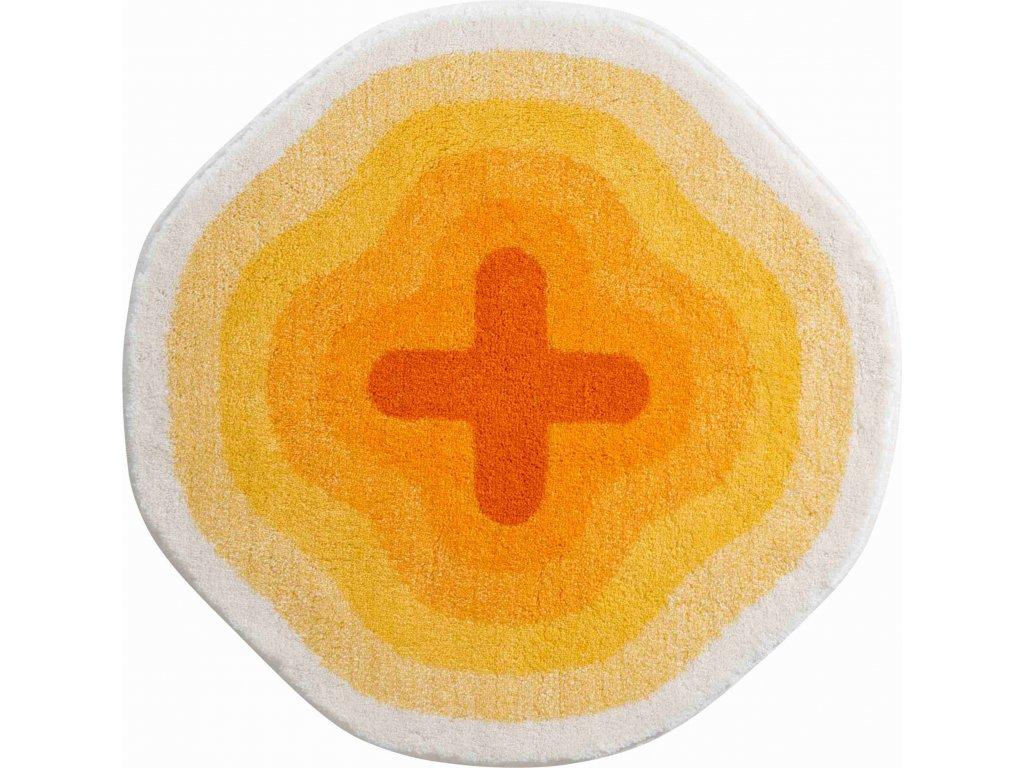 Kruhová předložka žlutá, Polyakryl SuperSoft, KARIM 03, b3643-120230, 8590507285816, 64