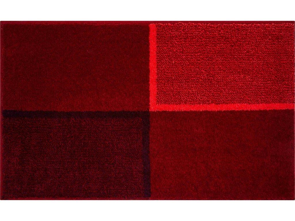 Koupelnová předložka červená, Polyakryl SuperSoft, DIVISO