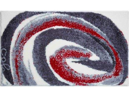 Koupelnová předložka šedá;červená, Polyakryl SuperSoft, Colani 42, b2613-023001012, 8590507315018, 63