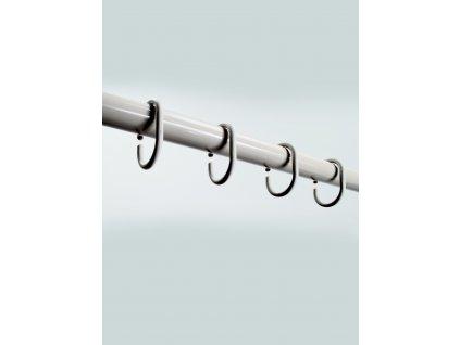 RINGE - Kroužky na sprchové závěsy 12 pcs, bílé