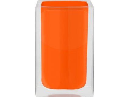CUBE - Kelímek na kartáčky, oranžový, z22280114, 8590507326069, 64