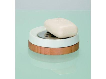 BAMBOO - Miska na mýdlo , bílá-béžová