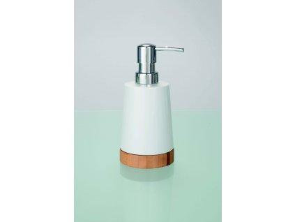 BAMBOO - Dávkovač mýdla 330 ml, bílá-béžová