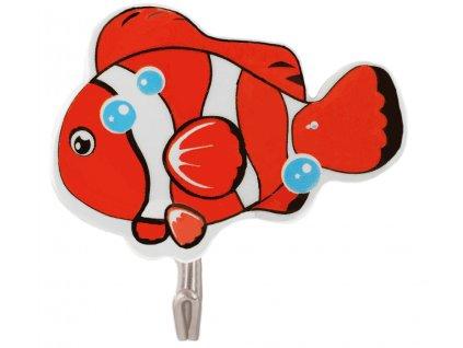 GOLD FISH - Přísavkový háček 6 ks, oranžový