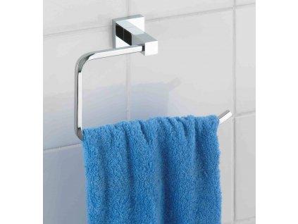 BEZ VRTÁNÍ PowerLoc SAN REMO - Věšák na ručník, kovově lesklý