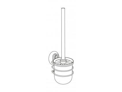 BEZ VRTÁNÍ StaticLoc OSIMO - WC štětka, kovově lesklá