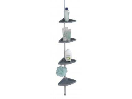 EASY - Rohové poličky na teleskopické tyči 78-265 cm, matné