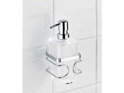 BEZ VRTÁNÍ Premium - Dávkovač mýdla, kovově lesklý