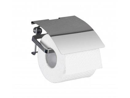BEZ VRTÁNÍ Premium - Držák WC papíru, kovově lesklý