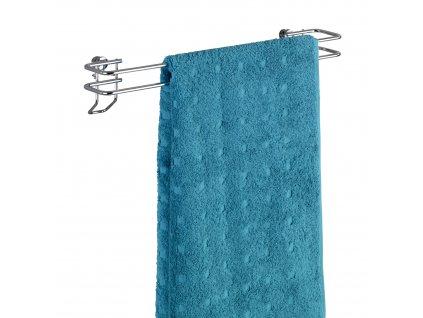 BEZ VRTÁNÍ Classic - Věšák na ručník, kovově lesklý