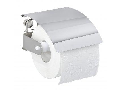 BEZ VRTÁNÍ Premium Plus - Držák WC papíru, kovově lesklý