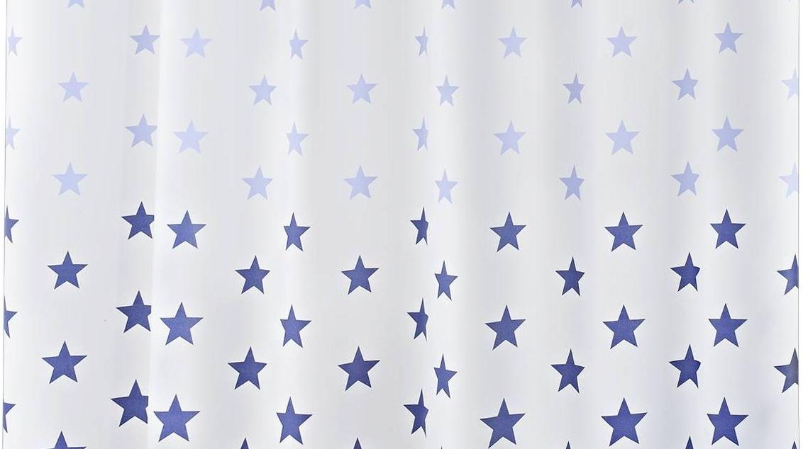 GRUND Sprchový závěs STARS modrý 180x200 cm