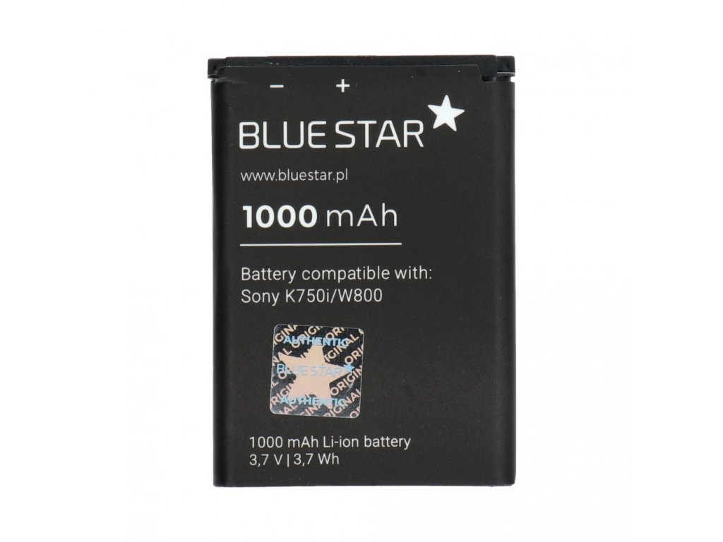 892 baterie sony ericsson k750i d750i w550i w800 w810 z710i li ion 1000 mah nahrada bst 37
