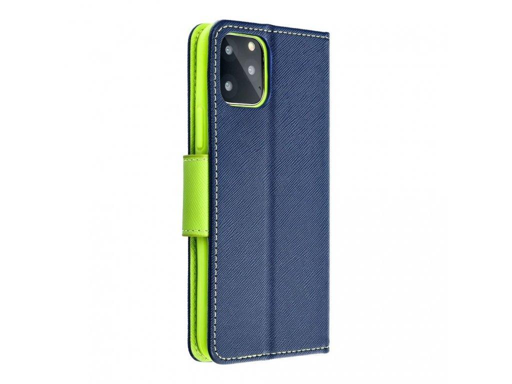 24586 fancy pouzdro book apple iphone 5 5s modre limetkove