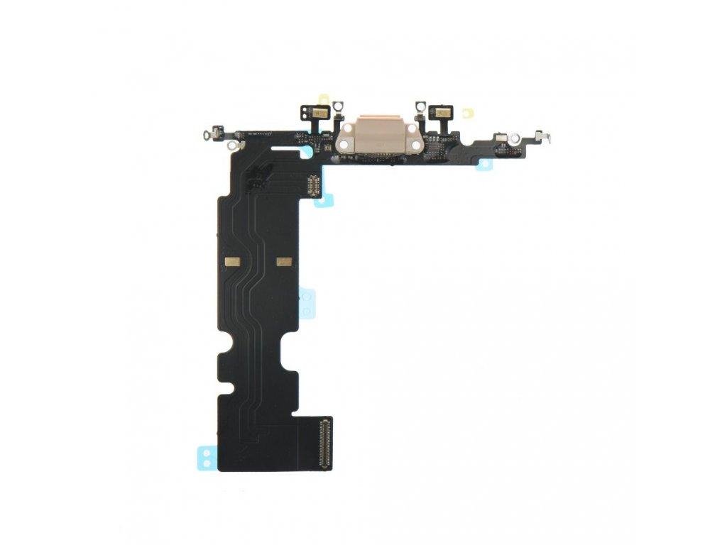 80251 1 flex kabel konektoru nabijeni pro apple iphone 8 plus 5 5 vc mikrofonu zlata