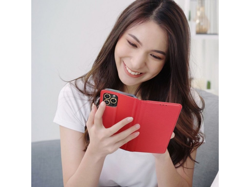 69273 1 forcell pouzdro smart case book pro apple iphone x cervene
