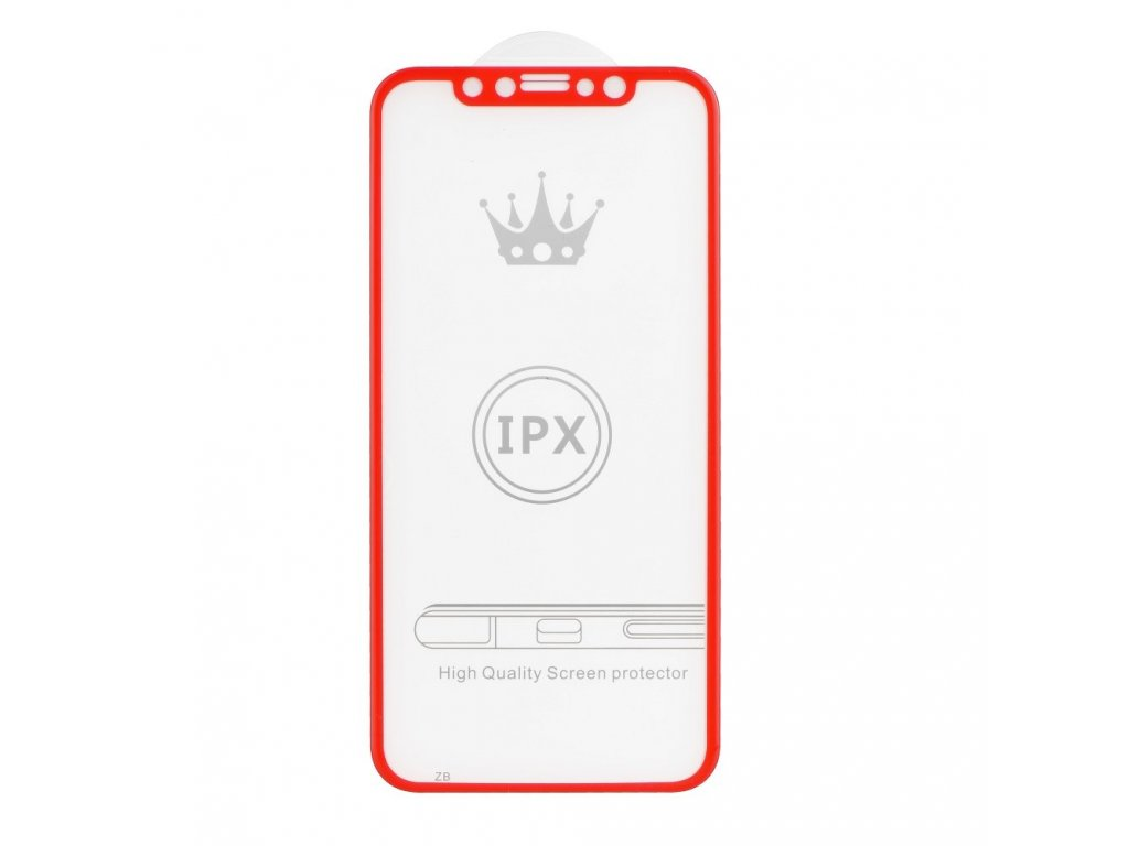 71744 1 forcell tvrzene sklo 5d full glue pro apple iphone x cervene