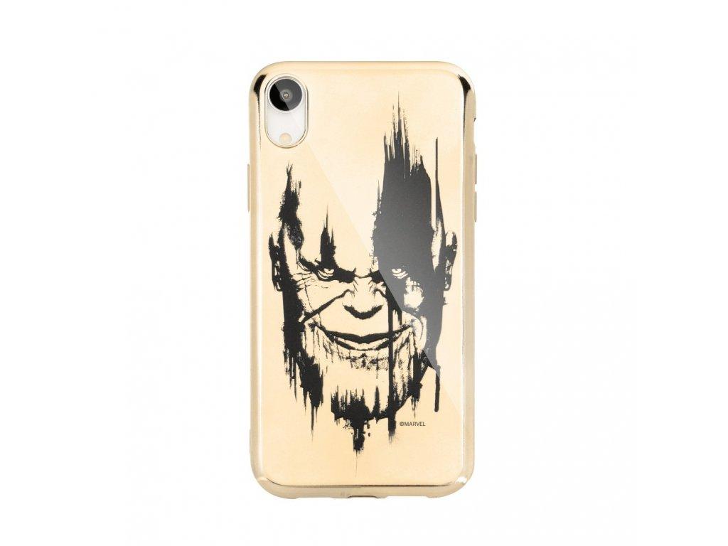 114746 licencovane pouzdro apple iphone 5 5s se thanos zlate vzor 004