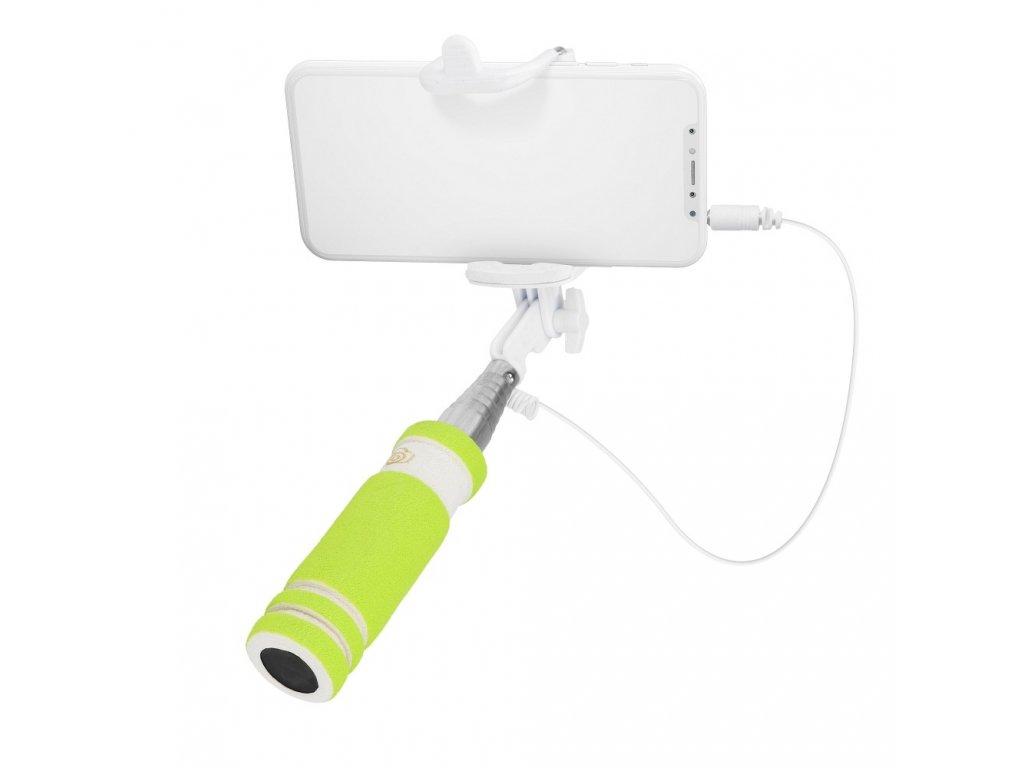 80544 3 mini selfie drzak kabel 3 5 mm zeleny