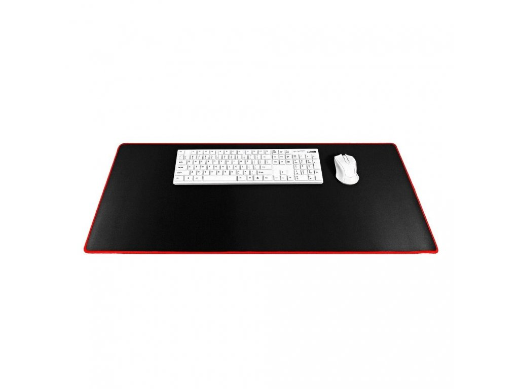 79650 5 podlozka pod klavesnici a mys 900x400x3mm cerna cervena