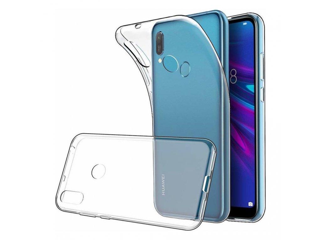 129404 pouzdro back case ultra slim 0 5mm huawei y6 2019 s otvorem pro otisk prstu transparent
