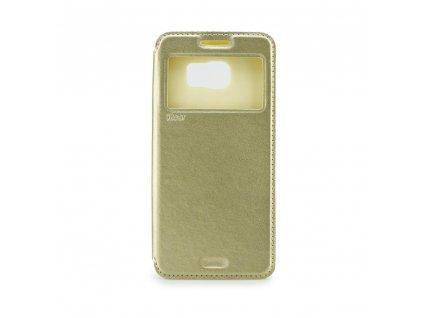 2683 flipove kozene pouzdro roar noble view apple iphone 4 4s zlate