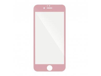 68696 forcell tvrzene sklo 5d hybrid full glue glass apple iphone 7 8 plus ruzove