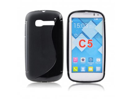 12256 1 pouzdro back case lux alcatel one touch pop c5 5036d cerne vzor s