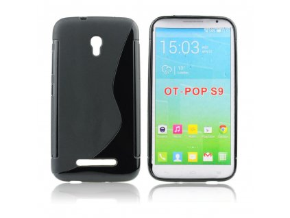 12262 1 pouzdro back case lux alcatel one touch pop s9 4035x cerne vzor s