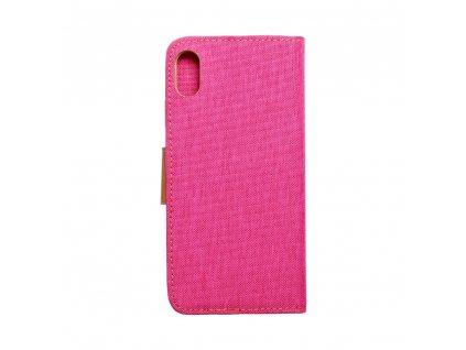104334 3 pouzdro canvas book apple iphone xs plus 6 5 ruzove