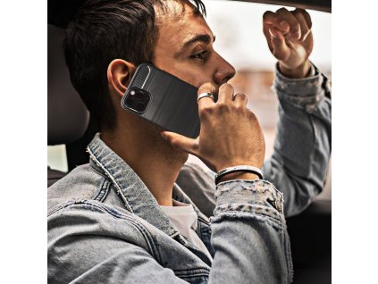 70533 pouzdro forcell carbon back cover huawei honor 8 cerne