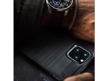 70521 2 pouzdro forcell carbon back cover pro samsung j710 galaxy j7 2016 cerne
