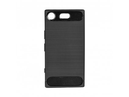 70662 1 pouzdro forcell carbon back cover pro sony xperia xz1 compact cerne