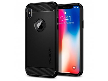 83211 4 pouzdro spigen rugged armor pro apple iphone x matte cerne
