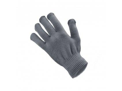 80182 3 rukavice pro dotykove obrazovky pro muze 22x12 cm seda