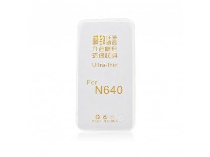 25165 2 silikonove pouzdro jelly case ultra slim 0 3mm microsoft lumia 640 transparentni