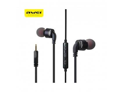 97794 stereo sluchatka headset awei es30ty full cerne