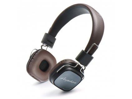 98283 stereo sluchatka headset remax rm 100h hnede