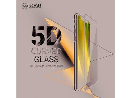 73340 tvrzene sklo 5d full glue roar glass apple iphone x transparent