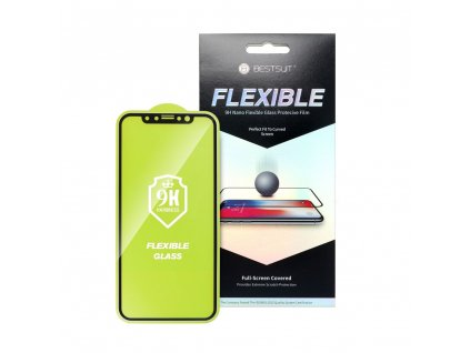 96753 tvrzene sklo flexible nano glass 5d full glue apple iphone 6 6s 5 5 cerne